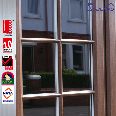 wood grain upvc sliding double glazing glass window and door on China WDMA