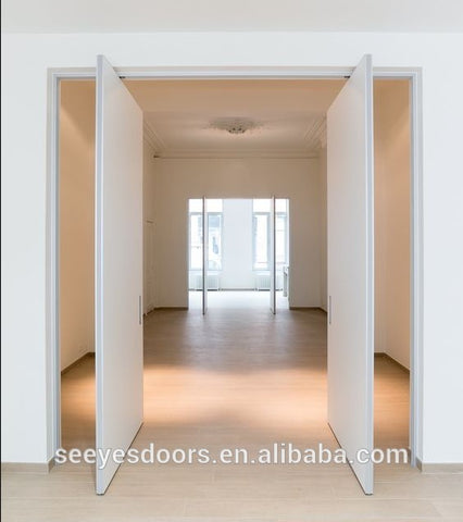 wood white pivot door double revolving door on China WDMA