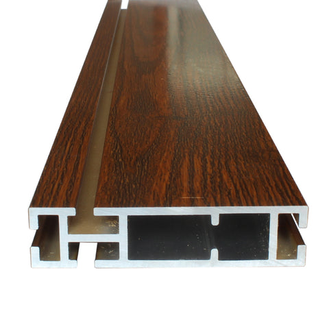 wooden grain extruded aluminium for sliding door frame on China WDMA