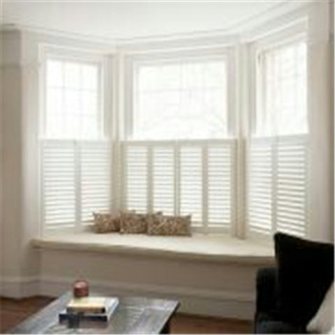 wooden shutter blades cheap cafe style half window plantation shutters on China WDMA