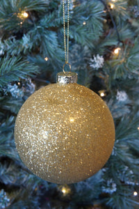 Very glittery gold bauble