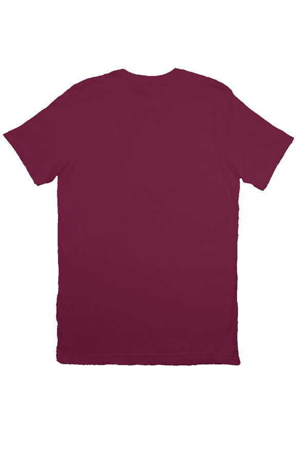 Men's front logo maroon shirt