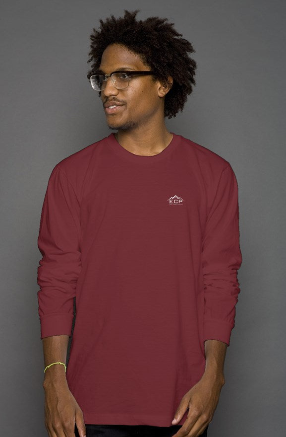 Men's long sleeve side logo shirt