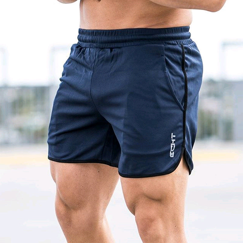 Men's fitness bodybuilding shorts