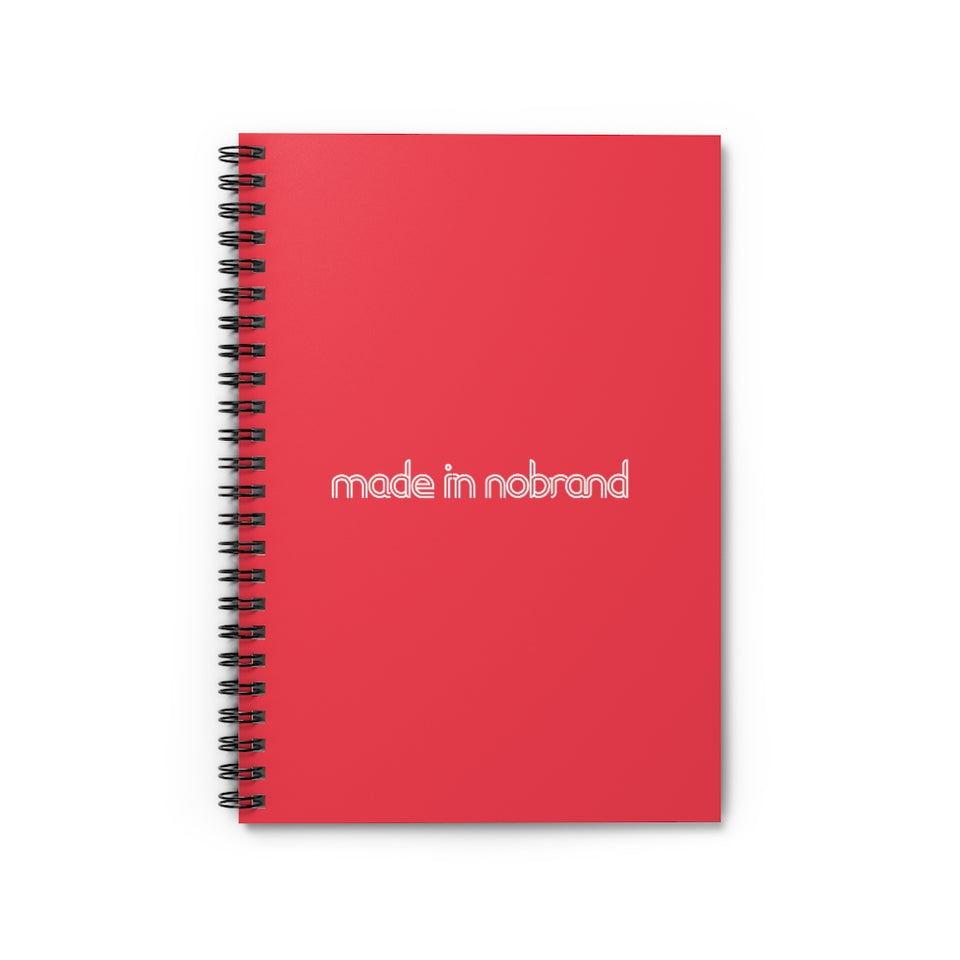 Made In Nobrand Spiral Notebook - Red