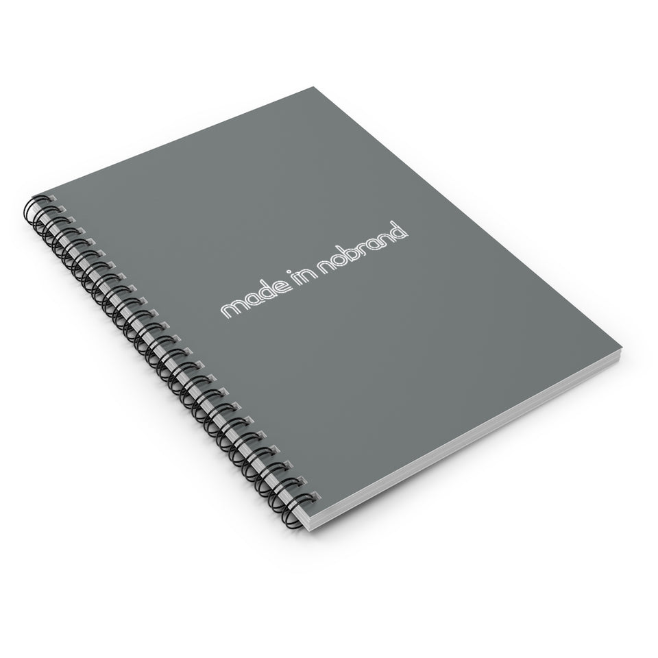 Made In Nobrand Spiral Notebook - dark grey