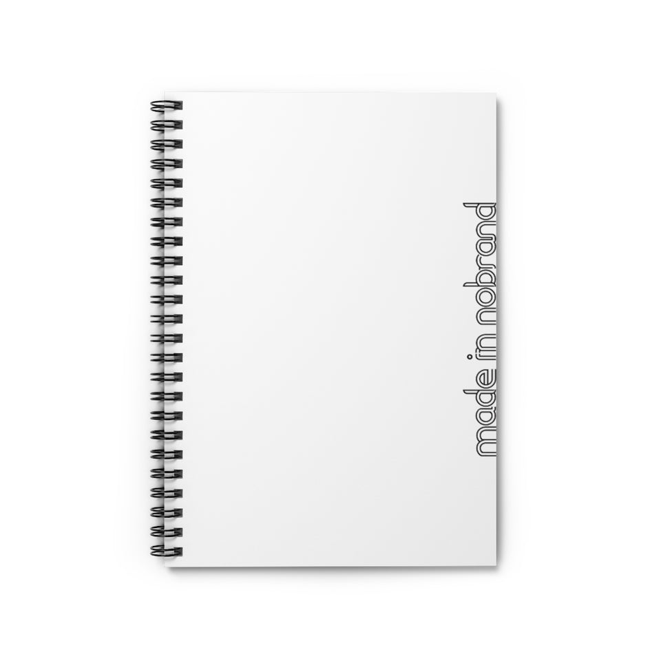 Made In Nobrand Spiral Notebook - White v2