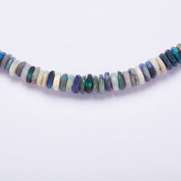 Australian opal Necklace ( Dark Blue/ Green hues)