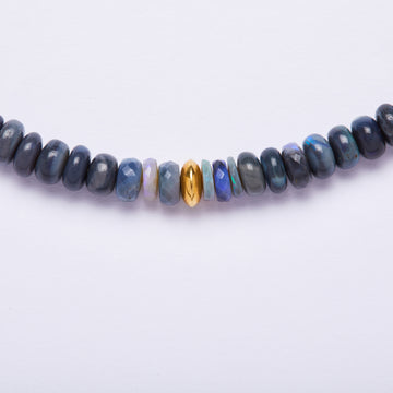Australian Opal and Gold Bead Necklace
