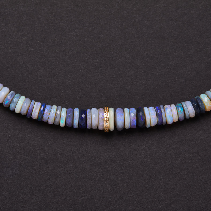 Australian Opal and Diamond Necklace (large)