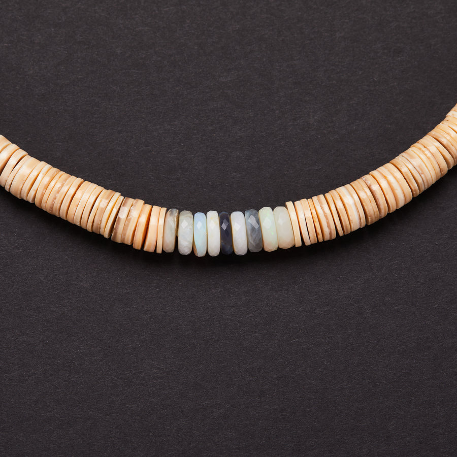 Australian Opal and Shell Necklace