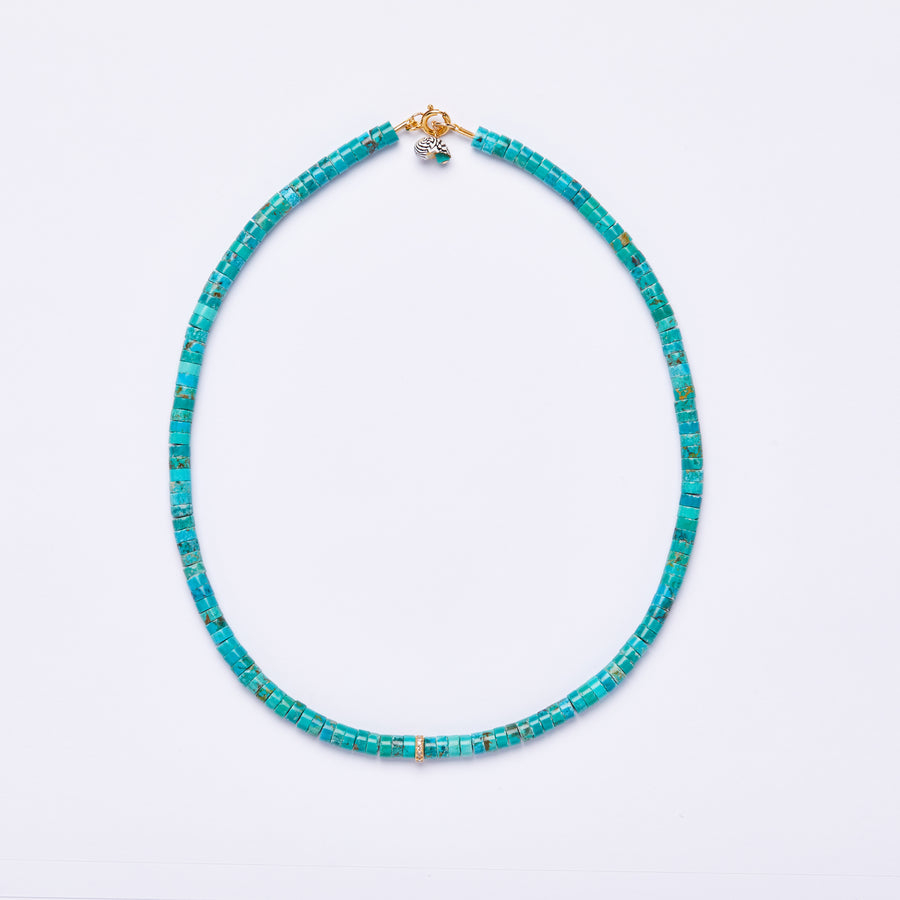 Turquoise and Diamond Necklace, small