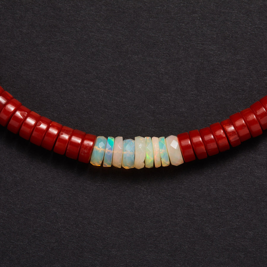 Coral and Opal Necklace