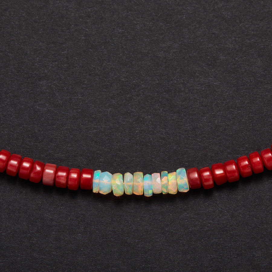 Coral and Opal Necklace (small)