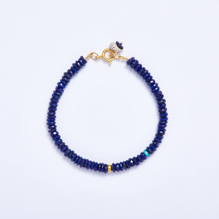 Faceted Lapis Bracelet
