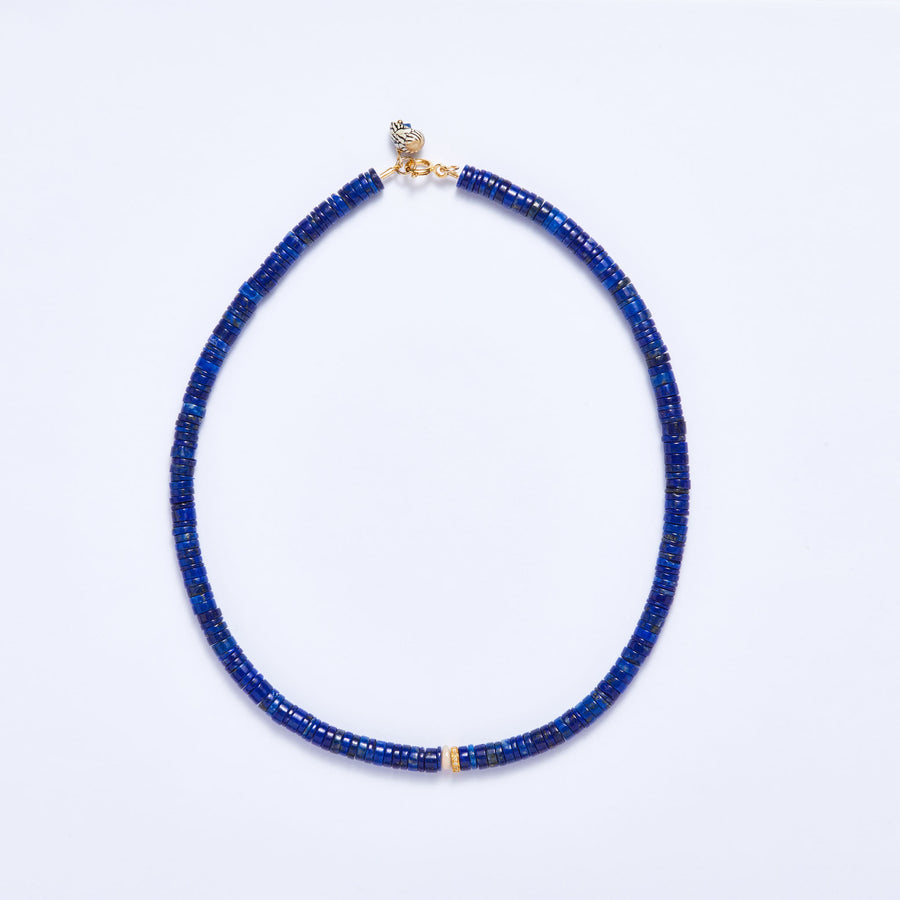 Lapis Lazuli and Diamond Necklace