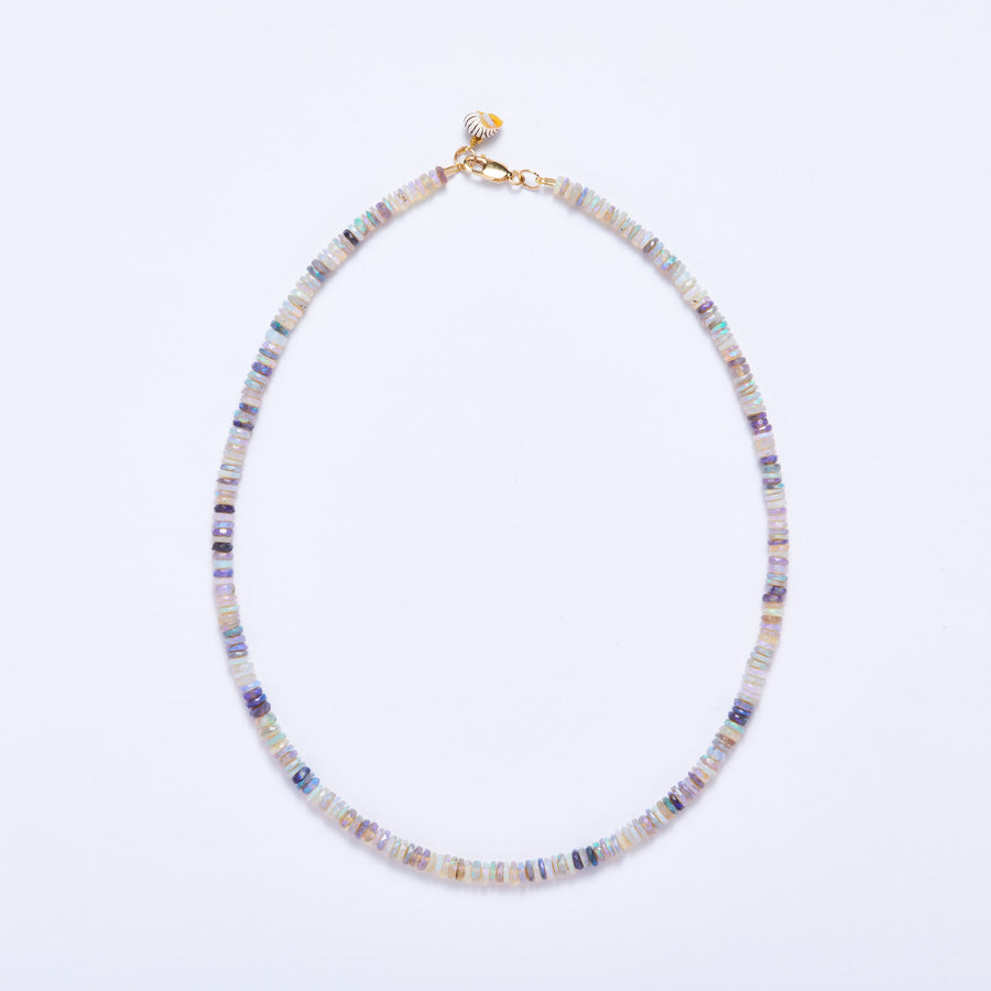 Australian Opal Necklace (Blue-Green-Purple Hue)