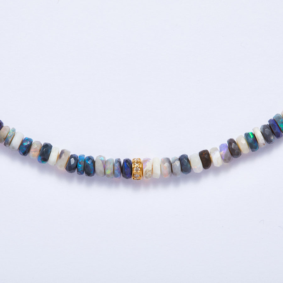 Australian Opal and Diamond Necklace