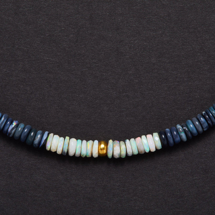 Australian Opal and Gold Necklace
