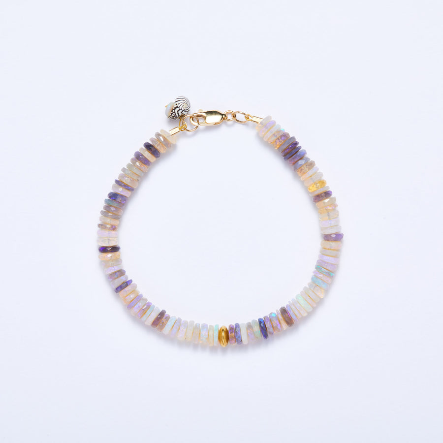Australian Opal and Gold Bracelet (Purple Hue)