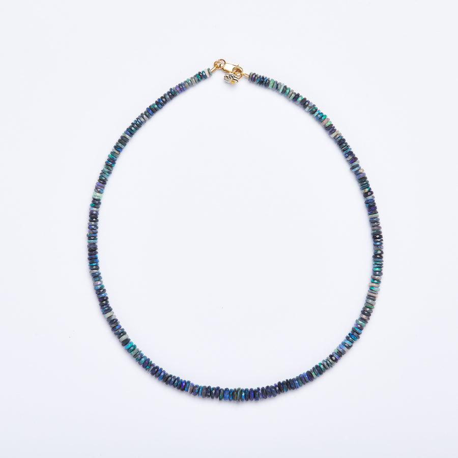 Australian Opal Necklace (Blue)