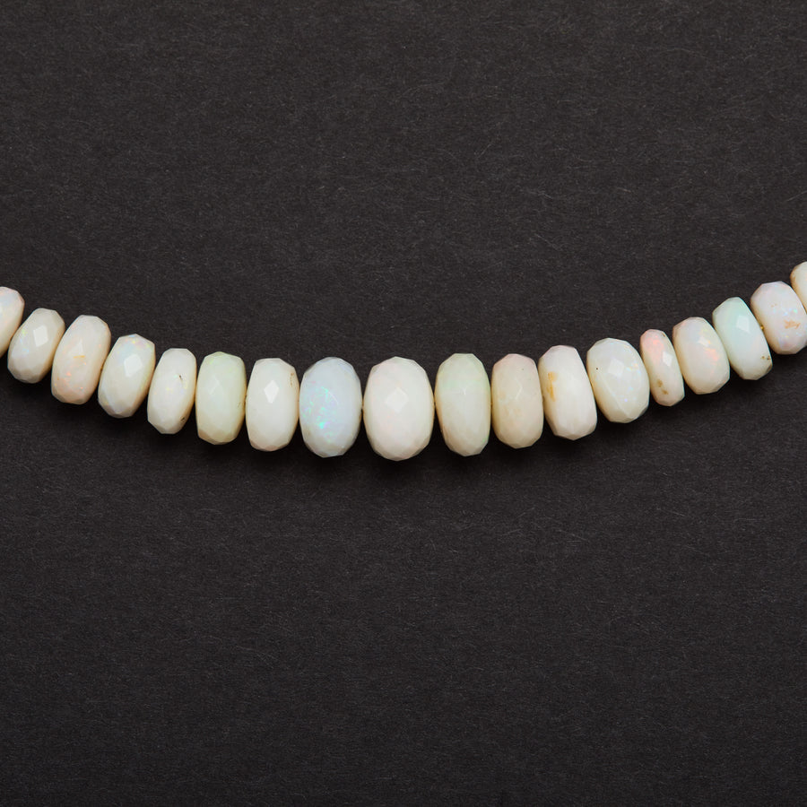 Australian Opal Necklace (White-Faceted)