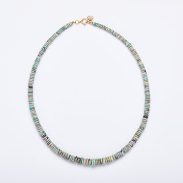 Australian Opal Necklace ( Blue-Green-Grey Heishi)