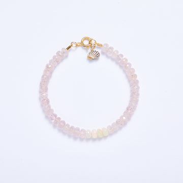 Morganite and Opal Bracelet