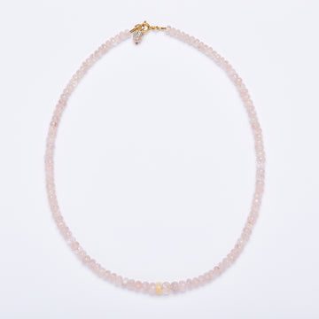 Morganite and Opal Necklace