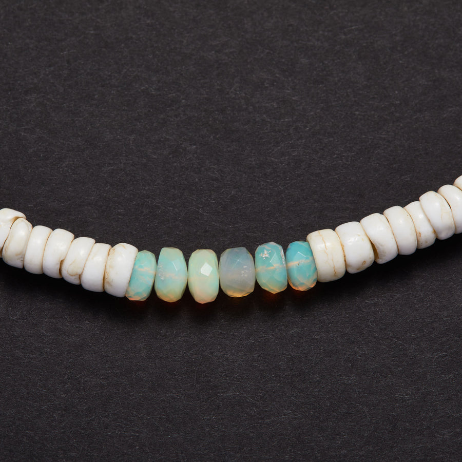 Vintage Shell and Opal Necklace