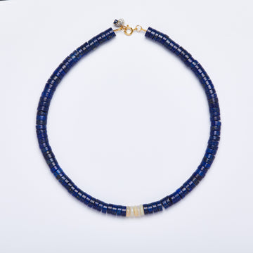 Lapis Lazuli and Australian Opal Necklace