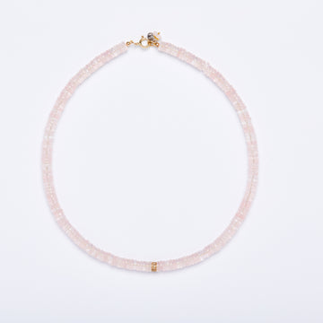 Diamond and Morganite Necklace