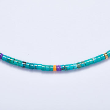 Turquoise Necklace (Purple Accent)