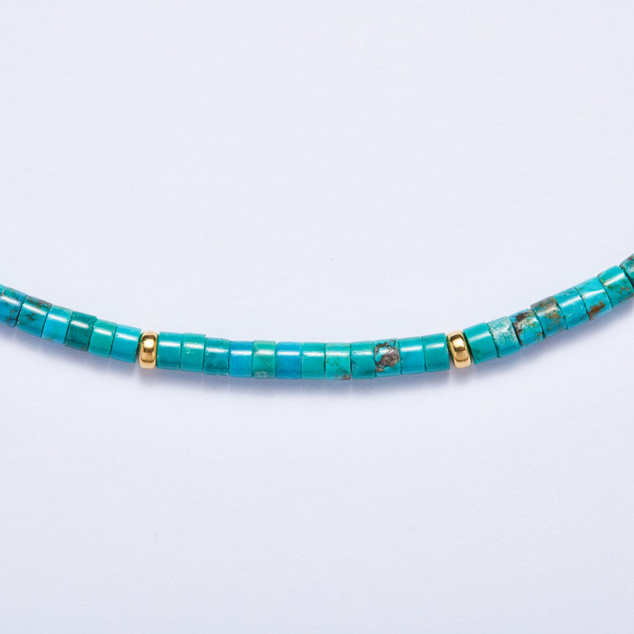 Turquoise Necklace (Gold Accent)