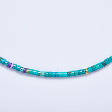 Turquoise Necklace (Lilac Accent)