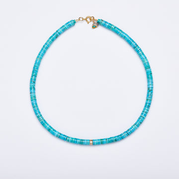 Turquoise and Diamond Necklace ( Baguette cut)