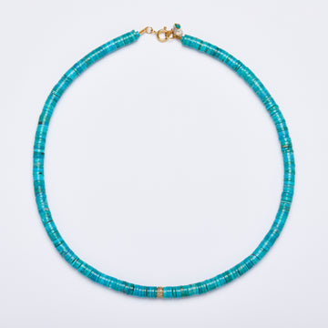 Turquoise and Diamond Necklace ( Medium)