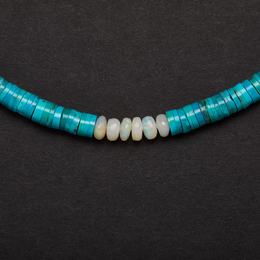 Turquoise and Ethiopian opal Necklace