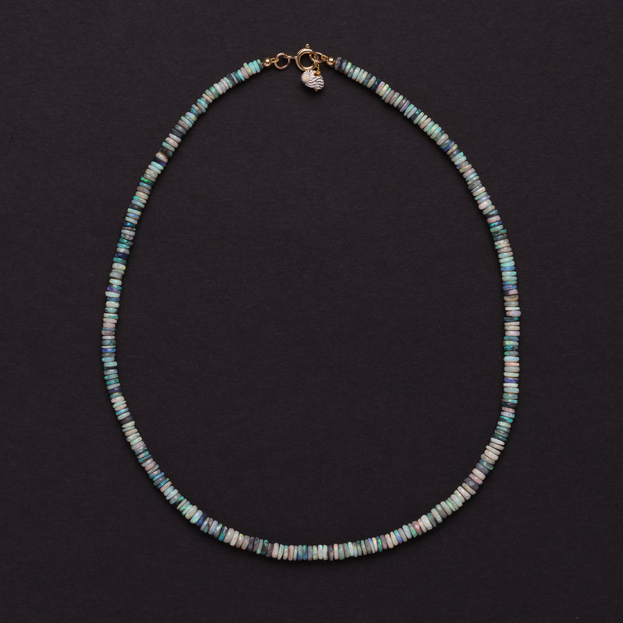 AUSTRALIAN OPAL NECKLACE (blue-green-small)