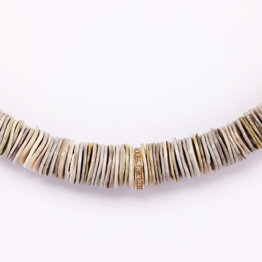 Shell and Diamond Necklace (3 colors)