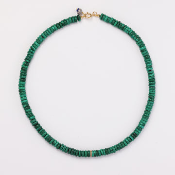 Malachite and Diamond Necklace