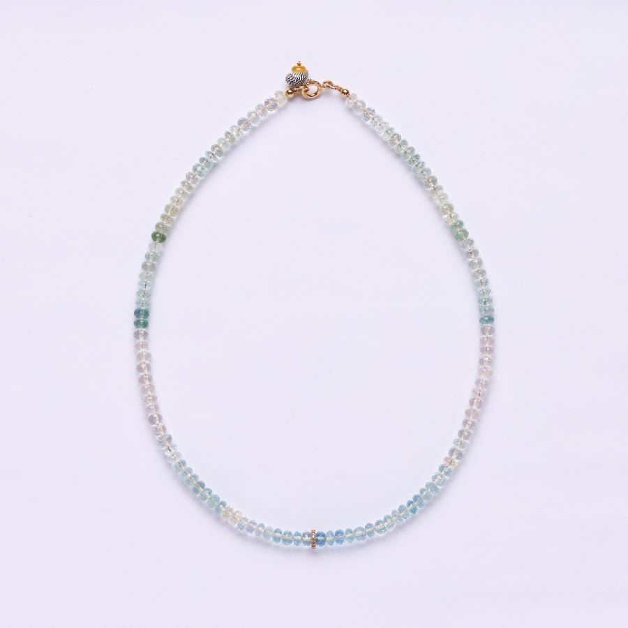 Aquamarine and Diamond necklace ( multicolor)