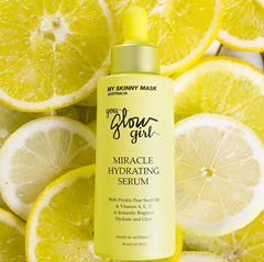 GIve your skin a boost with our miracle hydrating serum packed with vitamin A, C & E that will instantly brighten, hydrate and make your skin glow. Made in Australia with all natural ingredients. We are vegan, cruelty free and striving for zero waste. Apply the Miracle Hydrating Serum morning and night to see best results.
