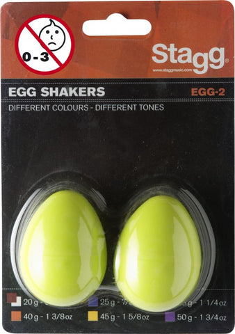 Stagg Egg Shakers, Yellow