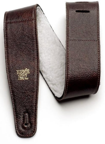 Ernie Ball 4138 Adjustable Italian Leather Strap With Fur Padding 2.5