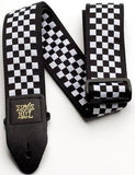 Ernie Ball 4149 Jacquard Strap Black and White Checkered