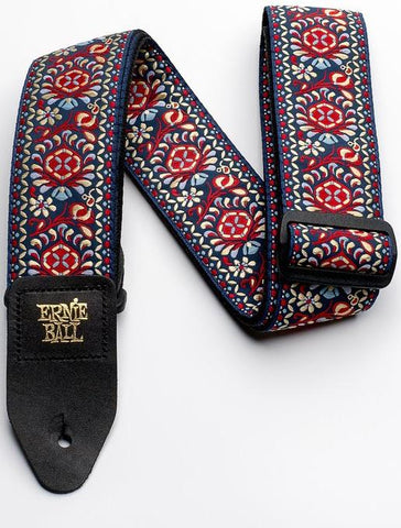 Ernie Ball 4091 Classic Jacquard Strap Royal Bloom