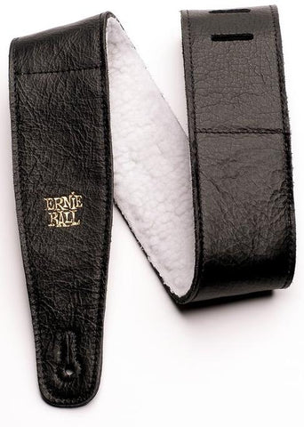 Ernie Ball 4137 Adjustable Italian Leather Strap With Fur Padding 2.5