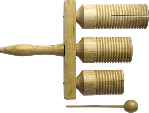 Stagg Agogo Bell & Mallet, 3 Tone
