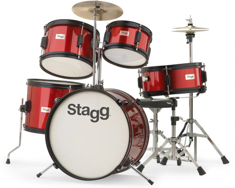 Stagg Junior Drum Kit, Ages 6 to 10, Red